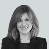 Black and white photo of Jennifer Napier - SVP, Marketing at Business Talent Group