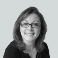 Black and white photo of Patricia Petersen - General Counsel & Chief Administrative Officer at Business Talent Group