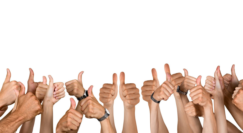 customer ratings - thumbs up