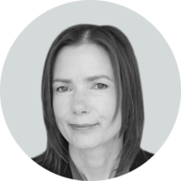 Black and white photo of Ysette Witteveen, Senior Client Service Principal, Life Sciences Lead at Business Talent Group